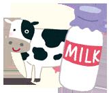 牛とミルク